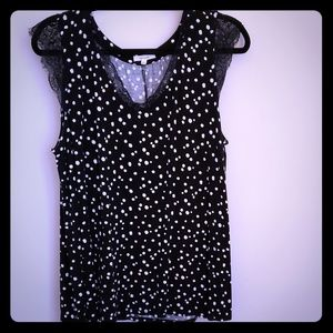 Polka dot top from Maurices